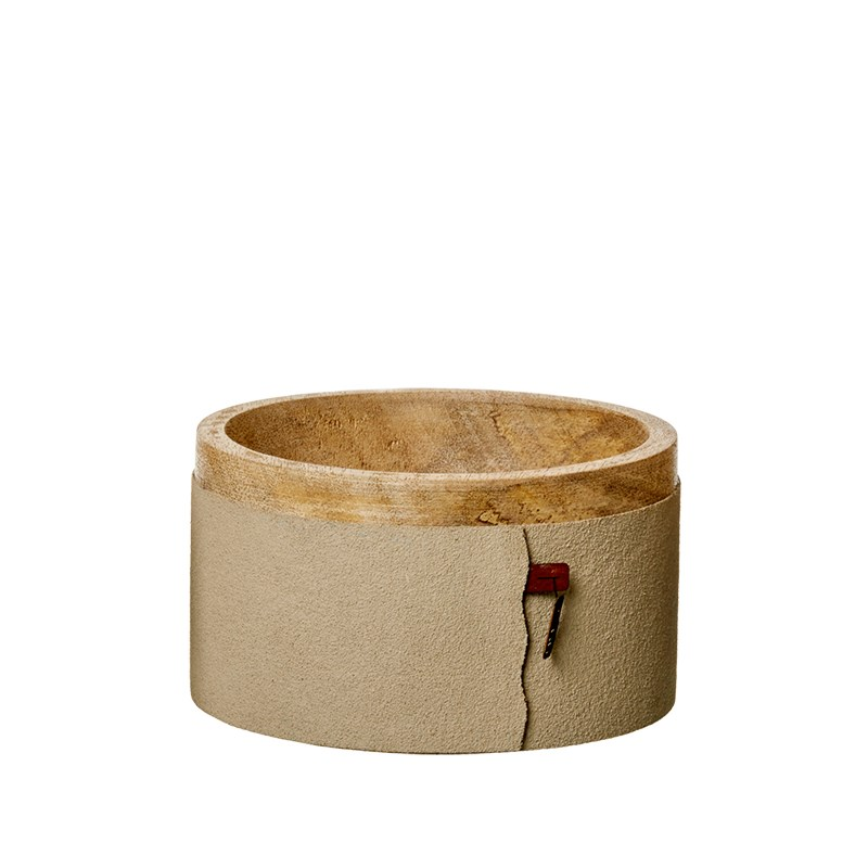 Image of   OOHH Wooden bowl w/sand paper, Light Br D15 X H8,5
