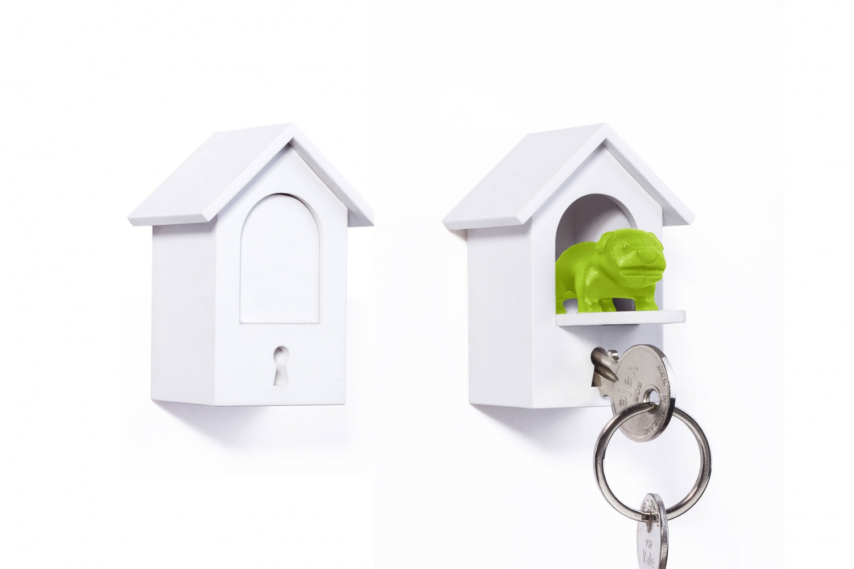 Qualy design Vagthund Nøgleholder m/hus (Grøn)
