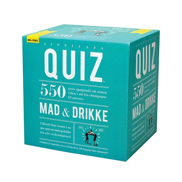 Image of   Jippijaja Quiz - Mad & Drikke