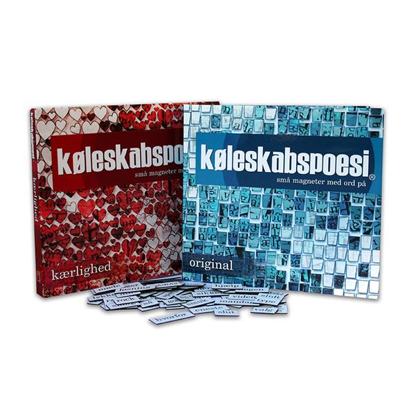 Image of   Køleskabspoesi - Små magneter med ord på Kærlighed