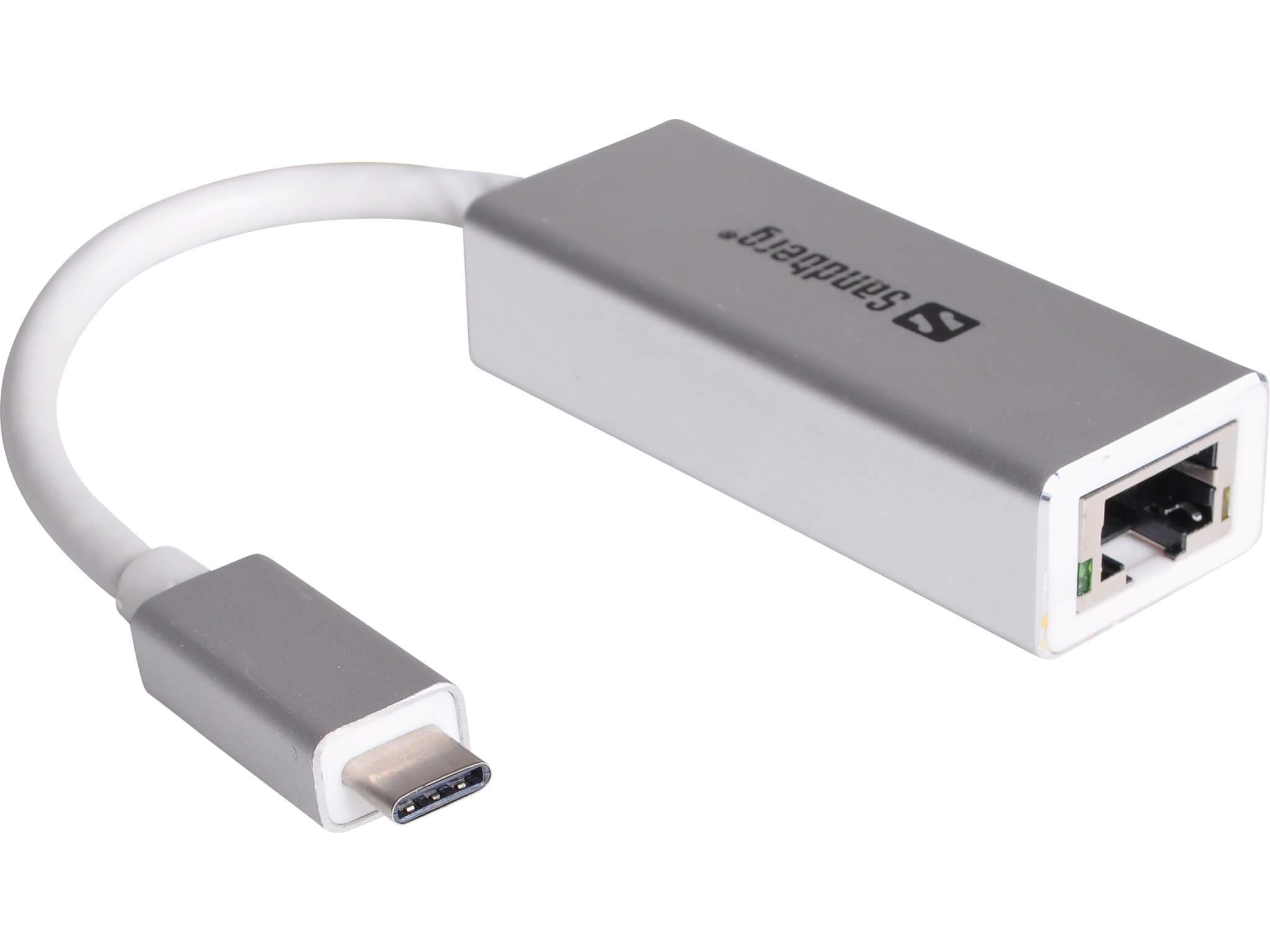Image of   Sandberg USB-C to Network Converter, Sølv