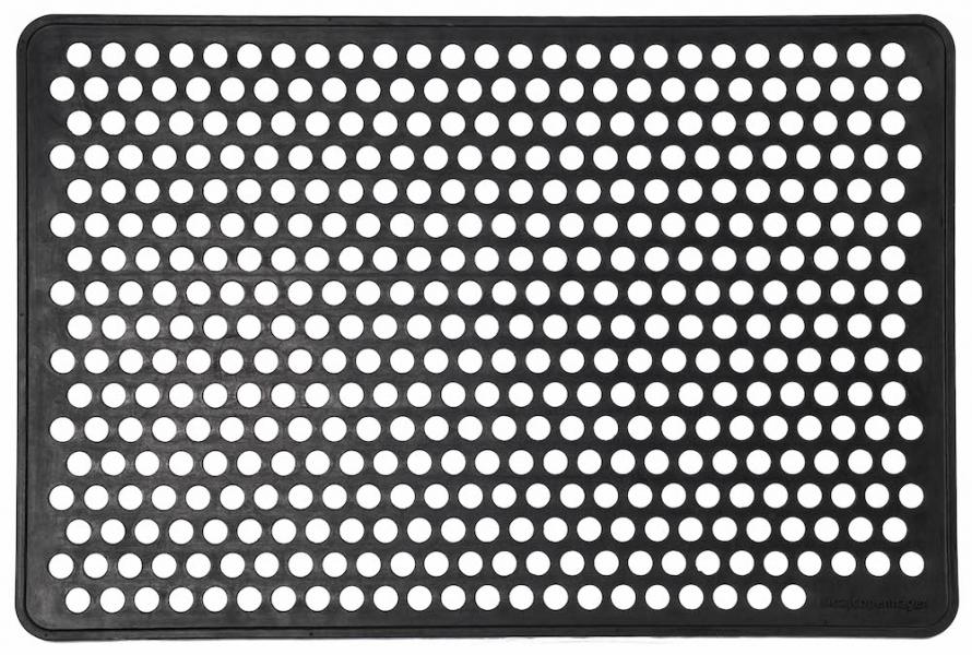 Tica Copenhagen Dørmåtte i gummi, 60x90 cm, dot design