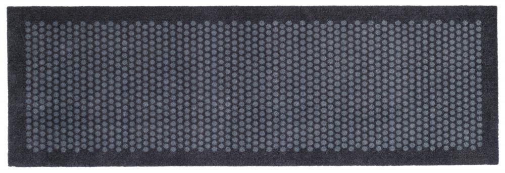 Tica Copenhagen Måtte/løber i polyamid, 67x200 cm, dot design, blue/grey