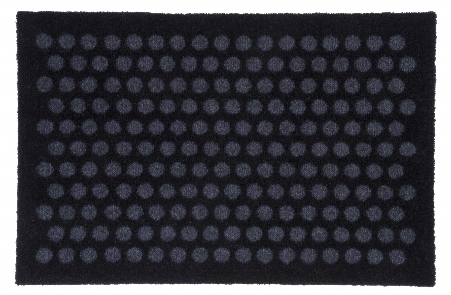 Tica Copenhagen Floormat polyamide, 40x60 cm, dot design, black/grey