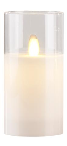 Image of   Villa Collection LED bloklys m. timer & bevægelig flamme D 7,5 cm - H 15 cm