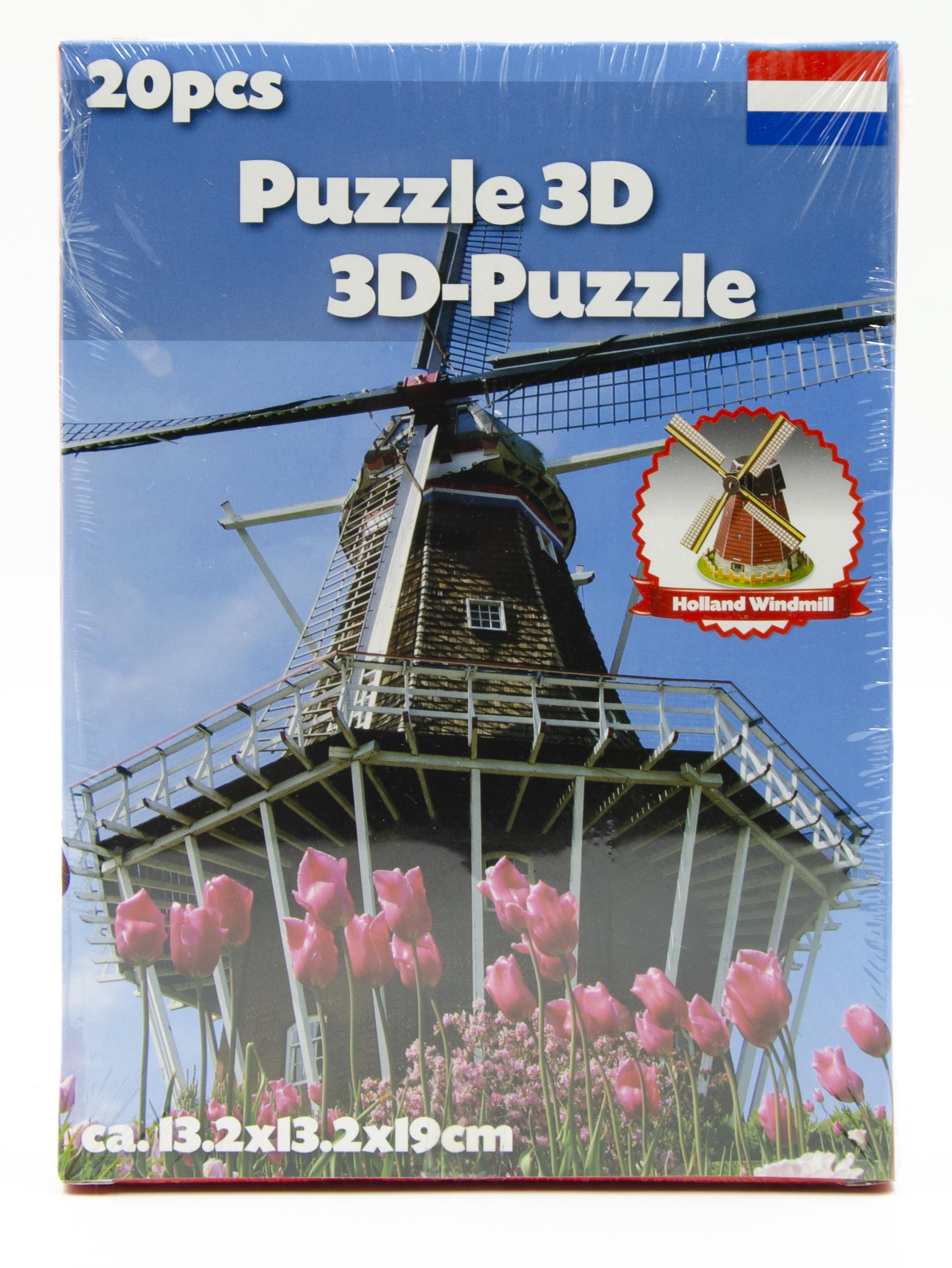 Image of   3D puslespil. vælg ml. forsk. seværdigheder Holland Windwill