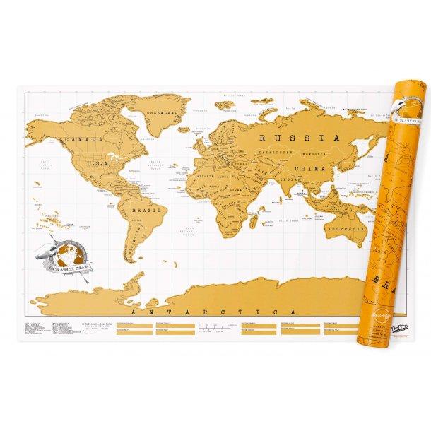 Verdenskort som skrabes - SCRATCH MAP