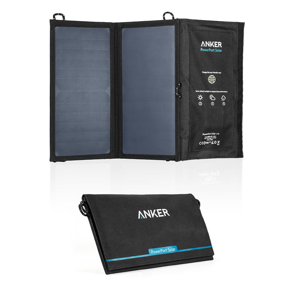 Image of   Anker PowerPort Solar Solcell panel 15W powerbank - Sort