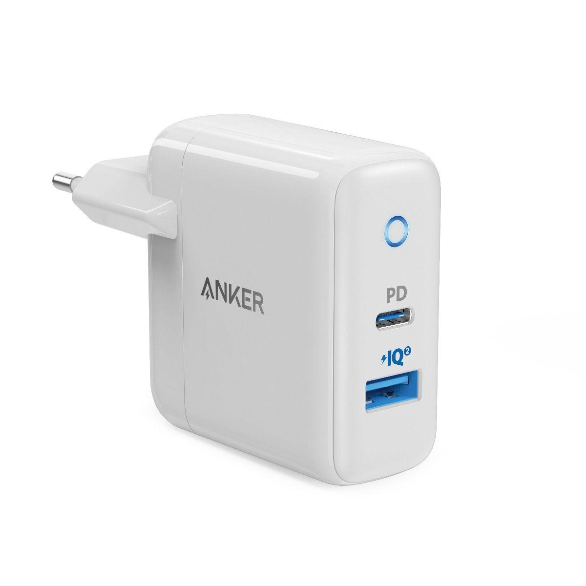 Image of   Anker PowerPort PD+ 2 USB-C 33W Vægoplader