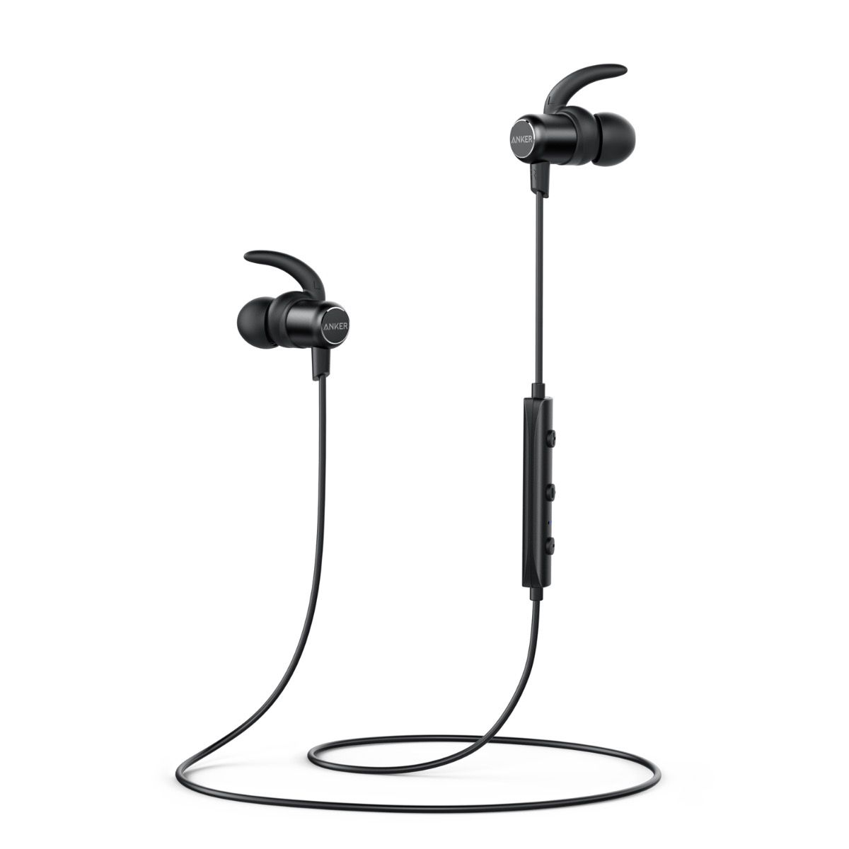 Image of Anker SoundBuds Slim Bluetooth høretelefoner in ear, Sort