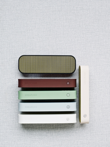 Image of   Kreafunk aGROOVE, m. guld front, Bluetooth 3.0. Cool Grey