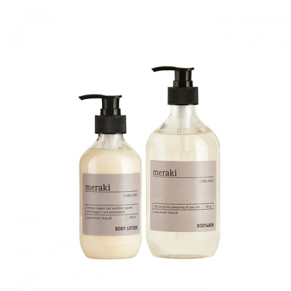 Image of   Meraki valuepack, bodywash/bodylotion, Silky Mist