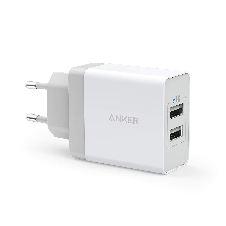 Image of   Anker PowerPort 2 USB oplader og Micro USB kabel, 24W / 4.8A, Hvid