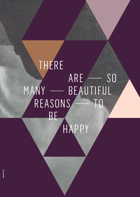 I Love My Type - Beautiful Reasons Plakat (50x70 cm)