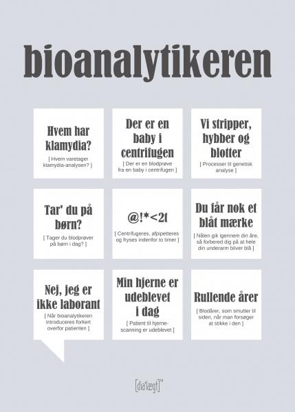 Image of   Dialægt Bioanalytikeren, A3 el. 50x70 cm 50x70 cm