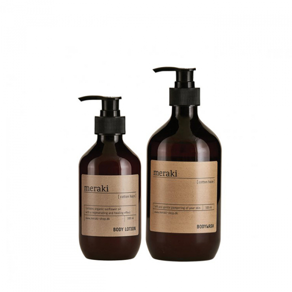 Image of   Meraki valuepack, bodywash/bodylotion, Cotton Haze