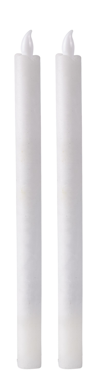 Image of   Villa Collection LED stagelys m. timer. Paraffin/ PP Hvid. D 2,1cm H 27,0cm