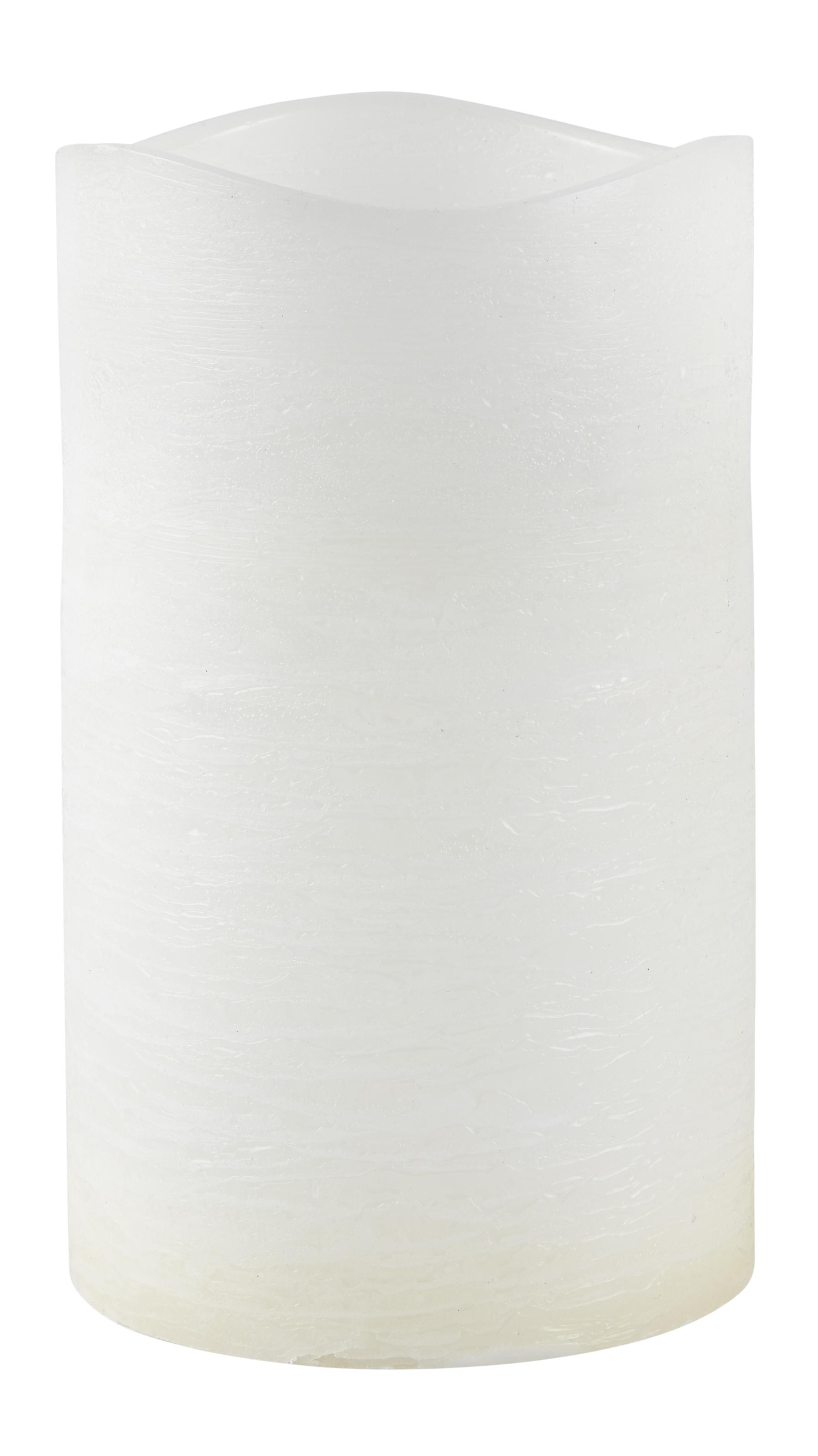 Image of   Villa Collection LED bloklys m. timer. Paraffin/PP Hvid. D 15,0cm H 25,0cm