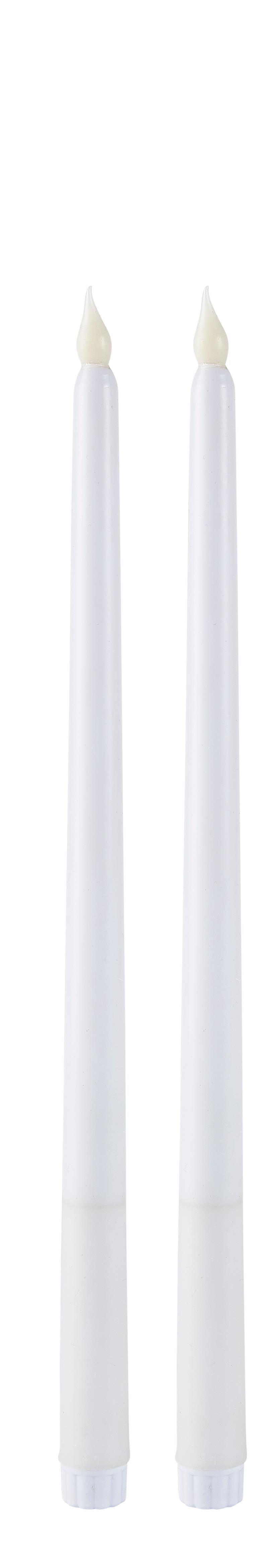 Image of   Villa Collection LED stagelys m/timer 2 st PP Paraffin Vit D 2 cm