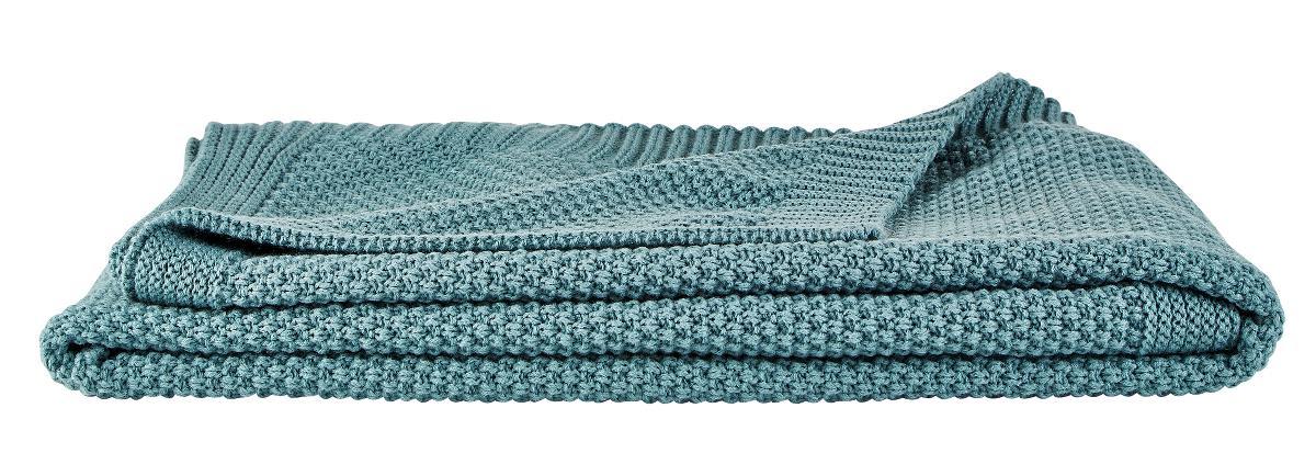 Image of   Villa Collection Plaid Strik 100% polyester Mint L 160 cm B 130,