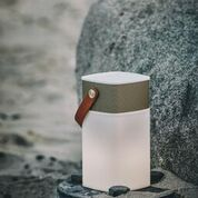 Image of   Kreafunk aGLOW, white, Gold front, Bluetooth 2.1 speaker