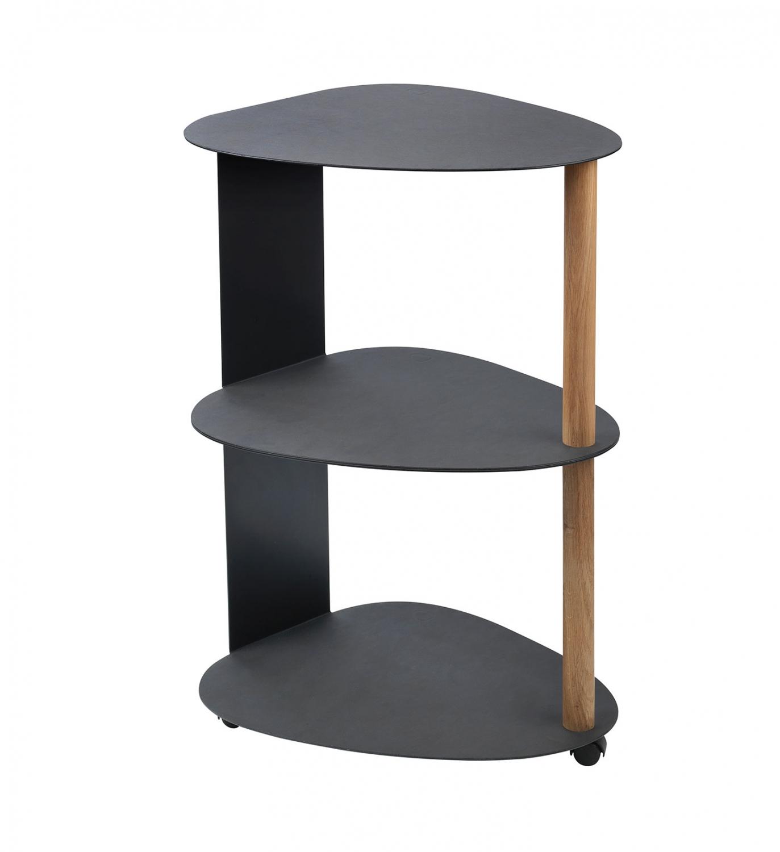 LIND DNA Sidebord Curve Table Double (Sort læder)