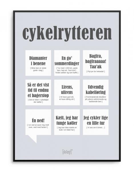 Image of   Dialægt Cykelrytteren A3 el. 50x70 cm 50x70 cm
