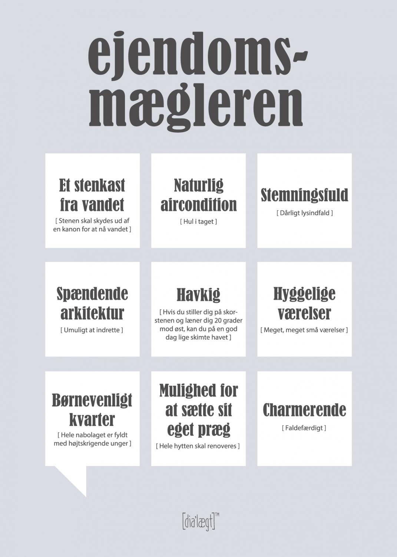 Image of   Dialægt Ejendomsmægleren Plakat 50x70 cm