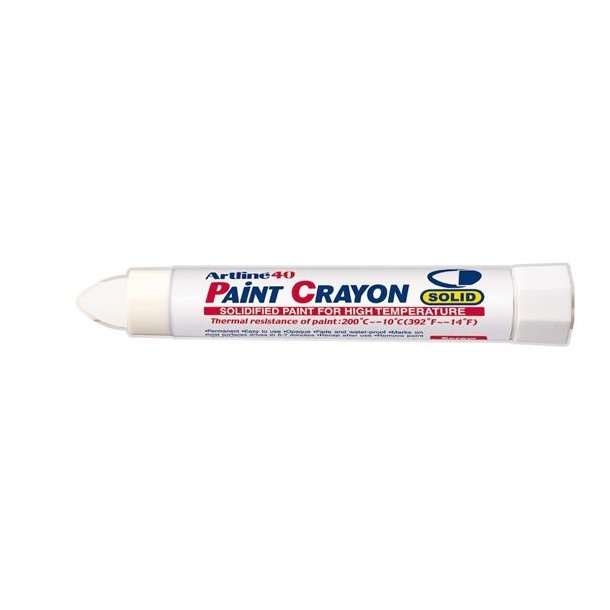 Artline 40 Paint Crayon High temp vit, 12 st