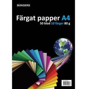 Image of   Büngers Farvet kopipapir, 50 ark pr. pakke, blå