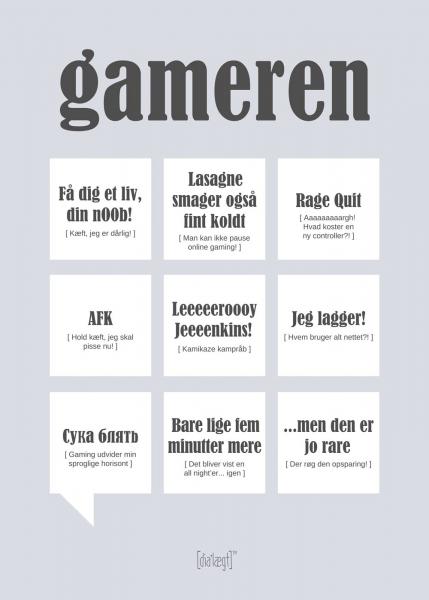 Image of   Dialægt Gameren, A3 el. 50x70 cm 50x70 cm