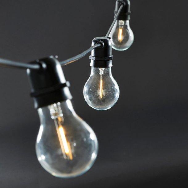 House Doctor Lyskæde, Function, Sort, 10 LED pærer