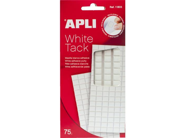 Image of   Apli Klæbemasse White tack, aftagelig, 75 g, hvid