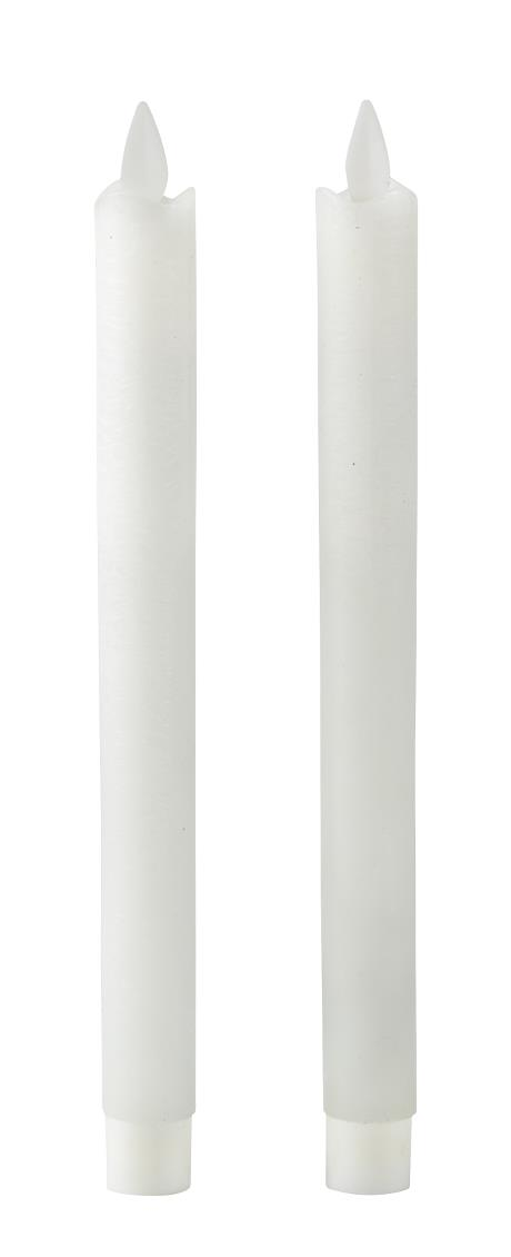 Villa Collection LED stagelys m. timer. Bevægelig flamme. 2 stk.