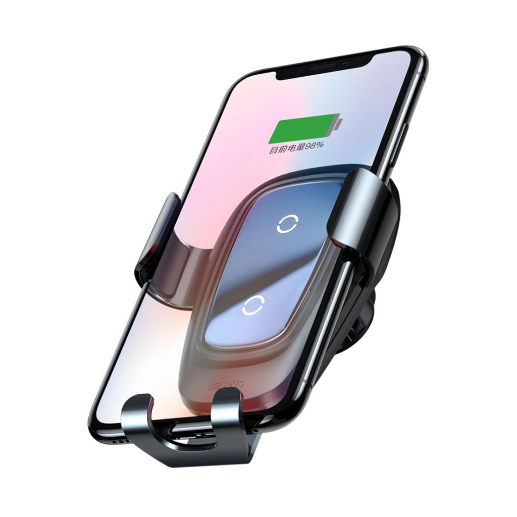 Image of   Baseus Trådløs oplader og bilholder Gravity til smartphones, Black