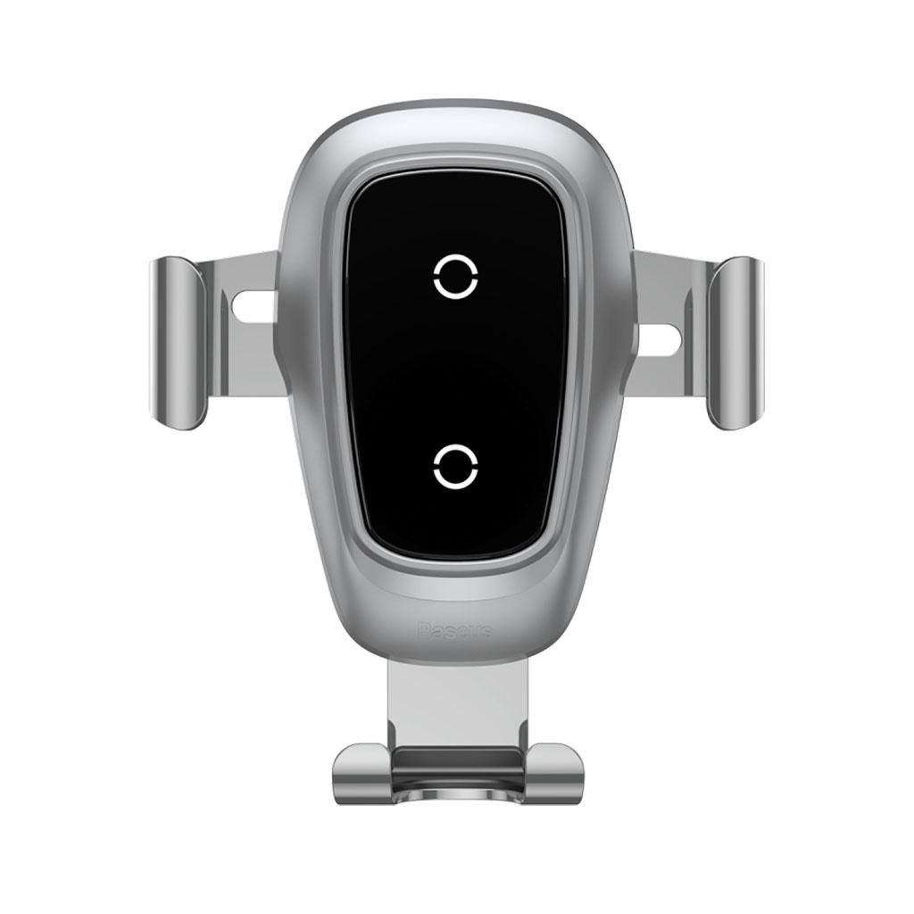 Image of   Baseus Trådløs oplader og bilholder Gravity til smartphones, Silver