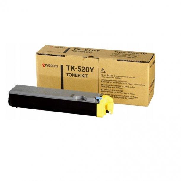 Kyocera TK520 Y Lasertoner, Gul,  4000 sider