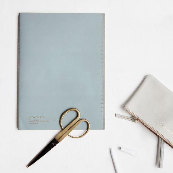 Image of   House Doctor Monograph Notesbog, Soft, Blå, A4 linjeret papir, 40 sider