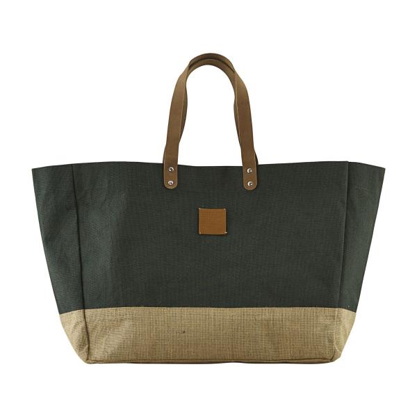 House Doctor Shoppingtaske, Carrie, grøn, 53,5x16,5x38 cm