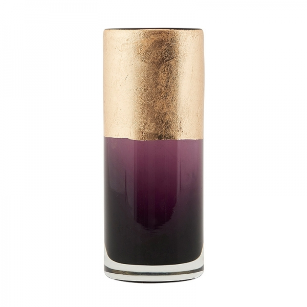 House Doctor Vase, Lost, lilla/guld, dia.: 6 cm, h.: 15,5 cm