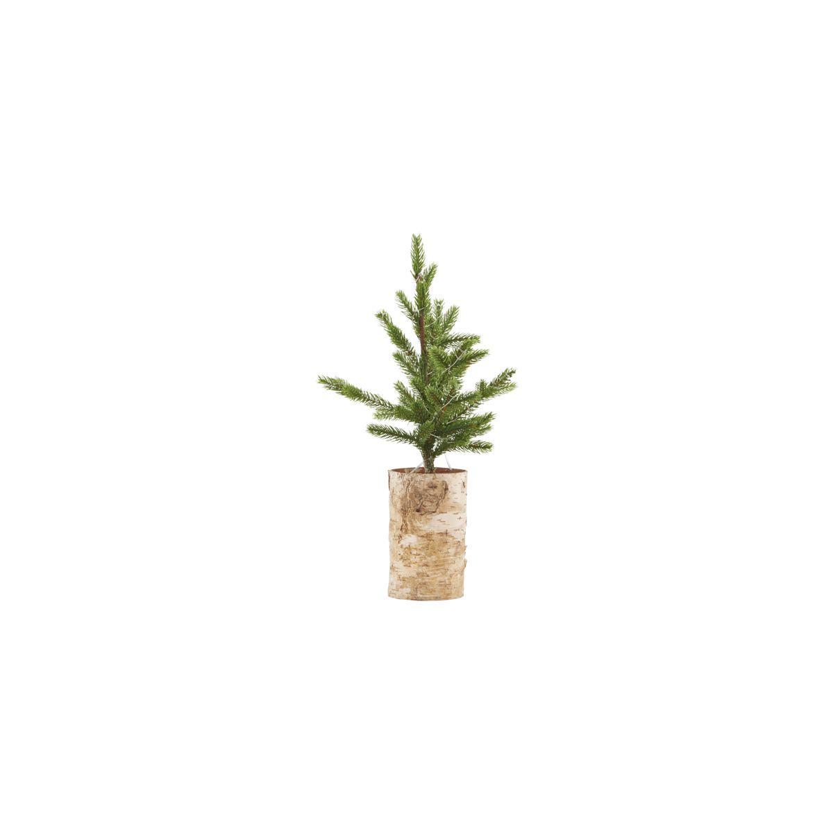House Doctor Juletræ med lys, træ bund, h.: 44 cm, pærer