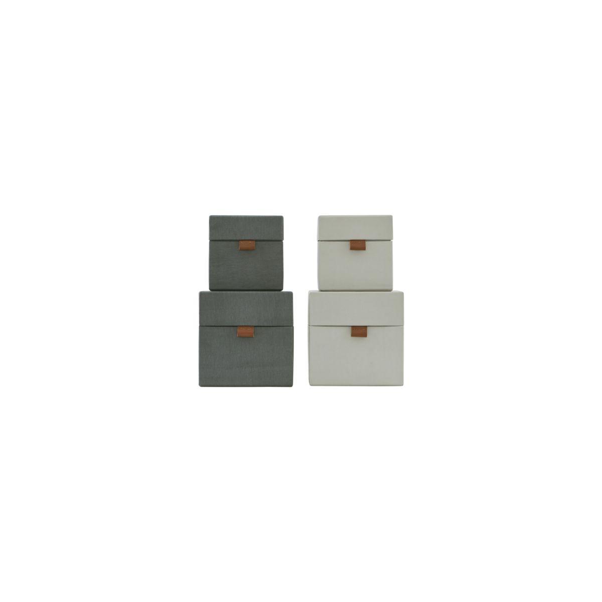 house doctor monograph f rvaring set av 2 str ljusgr el m rkgr s 12x12x12 cm l 15x15x15. Black Bedroom Furniture Sets. Home Design Ideas
