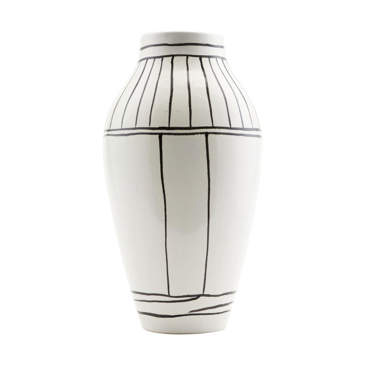 Image of   House Doctor Vase, Outline, Hvid, dia: 14 cm, h: 26 cm