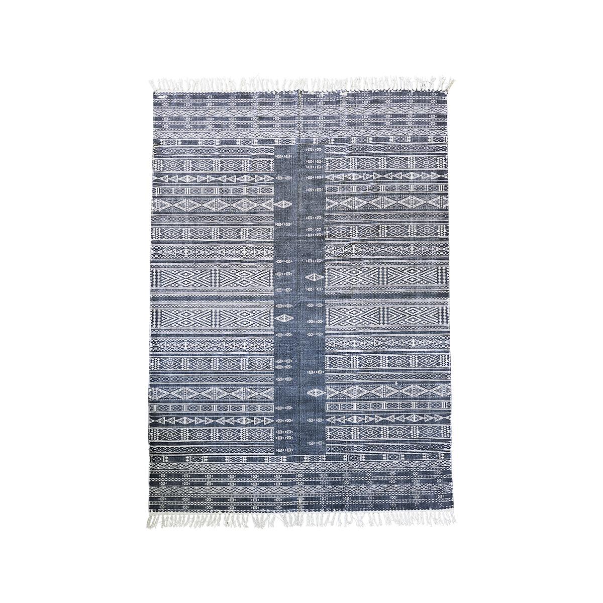 Image of   House Doctor Tæppe, Julia, Sort/Hvid, 160x230 cm, 81% bomuld