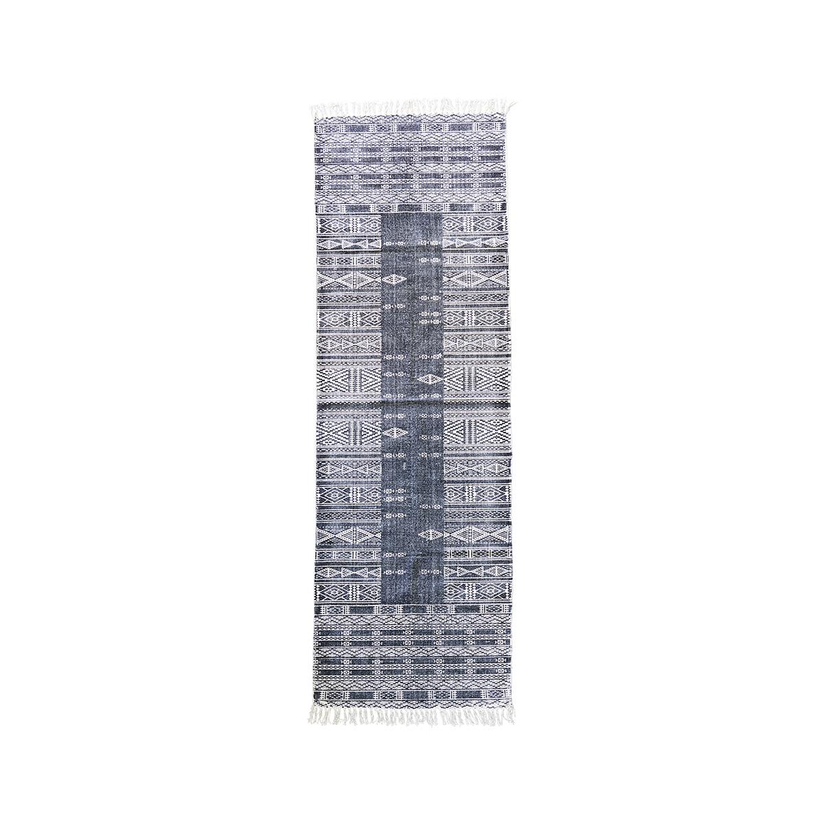 Image of   House Doctor Tæppe, Julia, Sort/Hvid, 70x240 cm