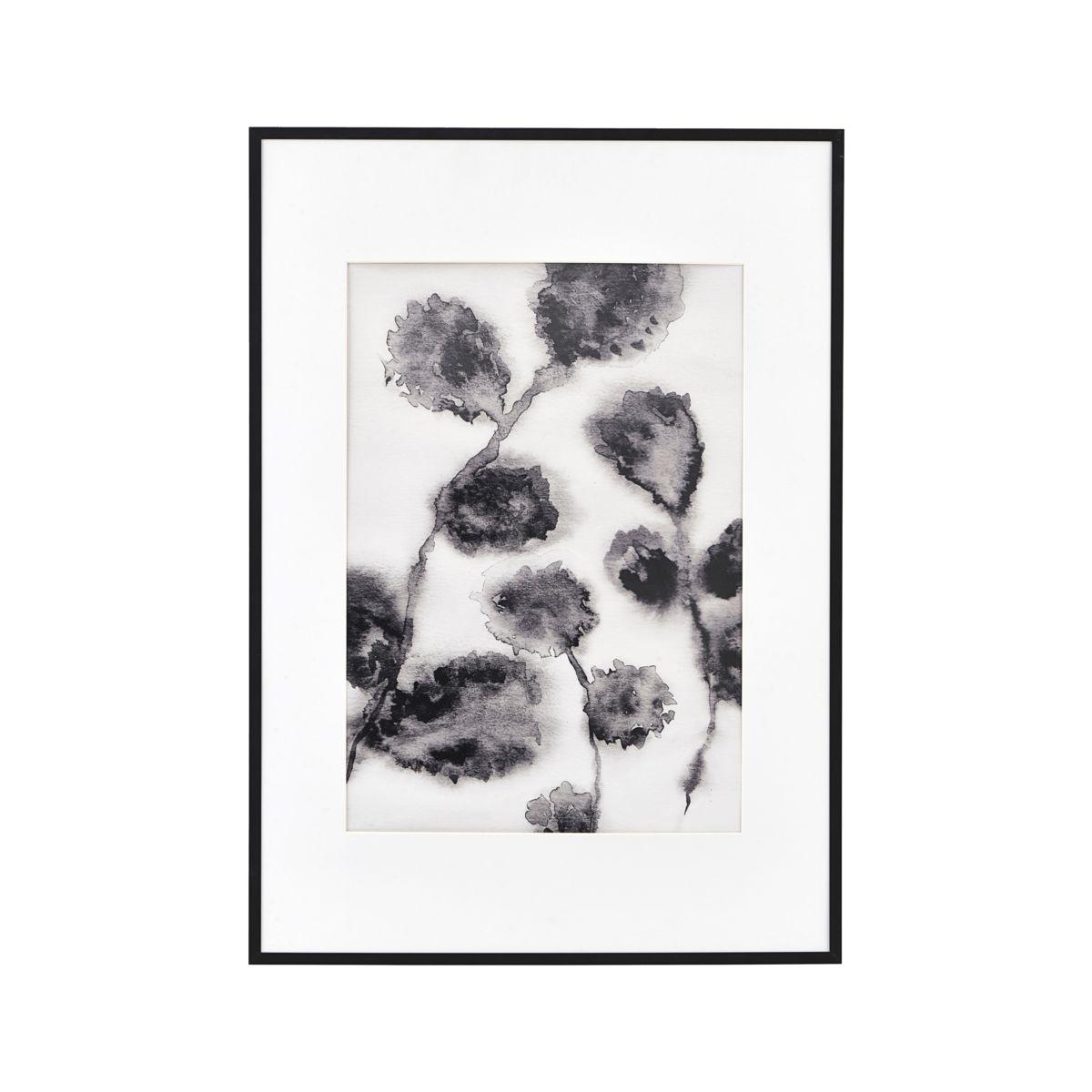 Image of   House Doctor Illustration Floral sort 42x59,4 cm