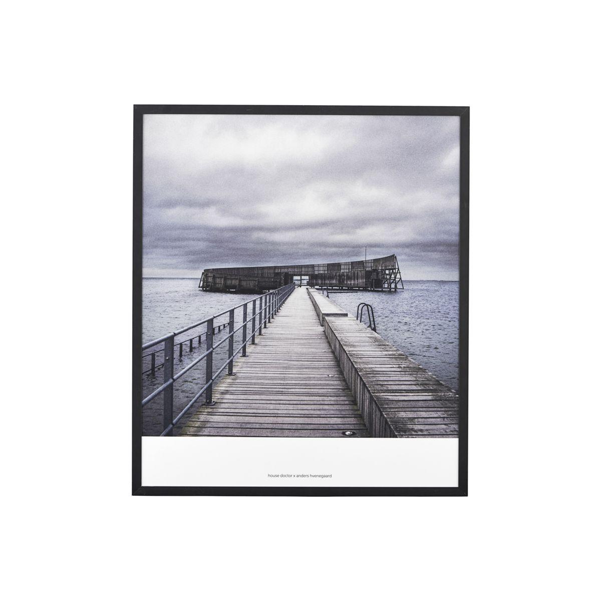 Image of   House Doctor Illustration, Places 03, By Anders Hvenegaard, Sort, 31x36 cm