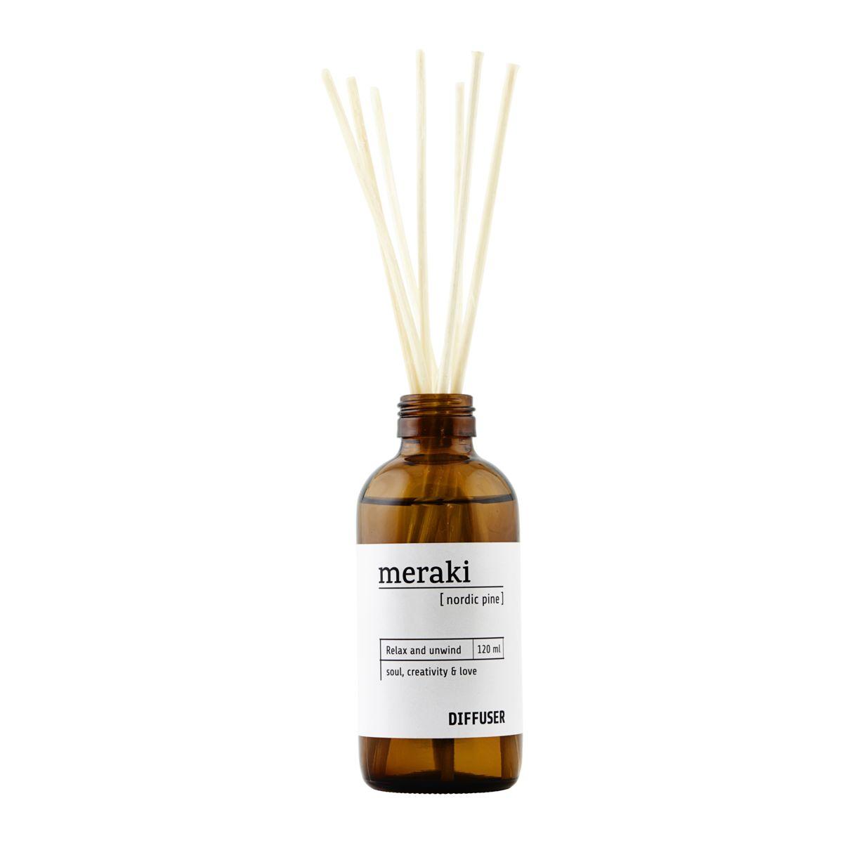 Image of   Meraki duftfrisker, Nordic pine, m. 7 pinde, 120 ml/4.0 fl.oz