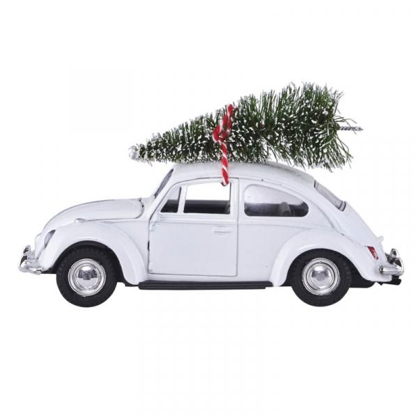 Image of   House Doctor Dekoration, XMAS CAR, hvid, l.: 12,5 cm
