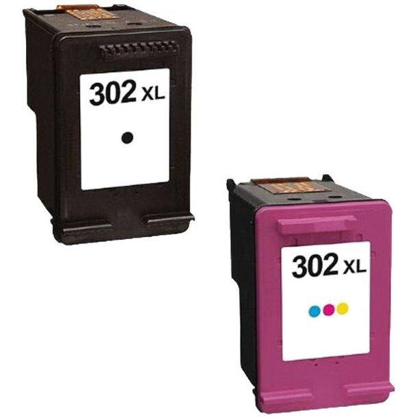 HP 302 XL Valuepak 2 stk 40 ml - kompatibel blækpatron